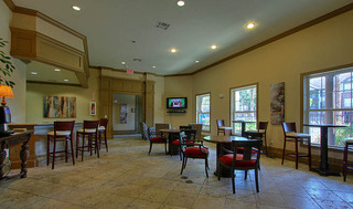 Lobby for apartment community in houston