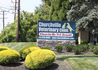 Churchville sign