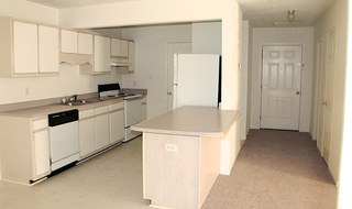 Inside the kitchen at our Fayetteville apartments