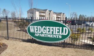 Sign at Raeford apartments