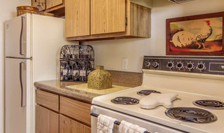 Houston apartments model kitchen