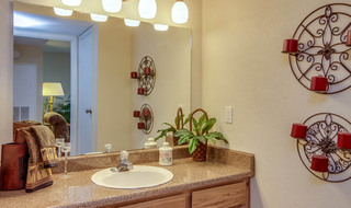 Model bathroom in houston apartments