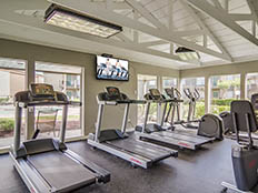 Fitness center at Somerset Apartment Homes