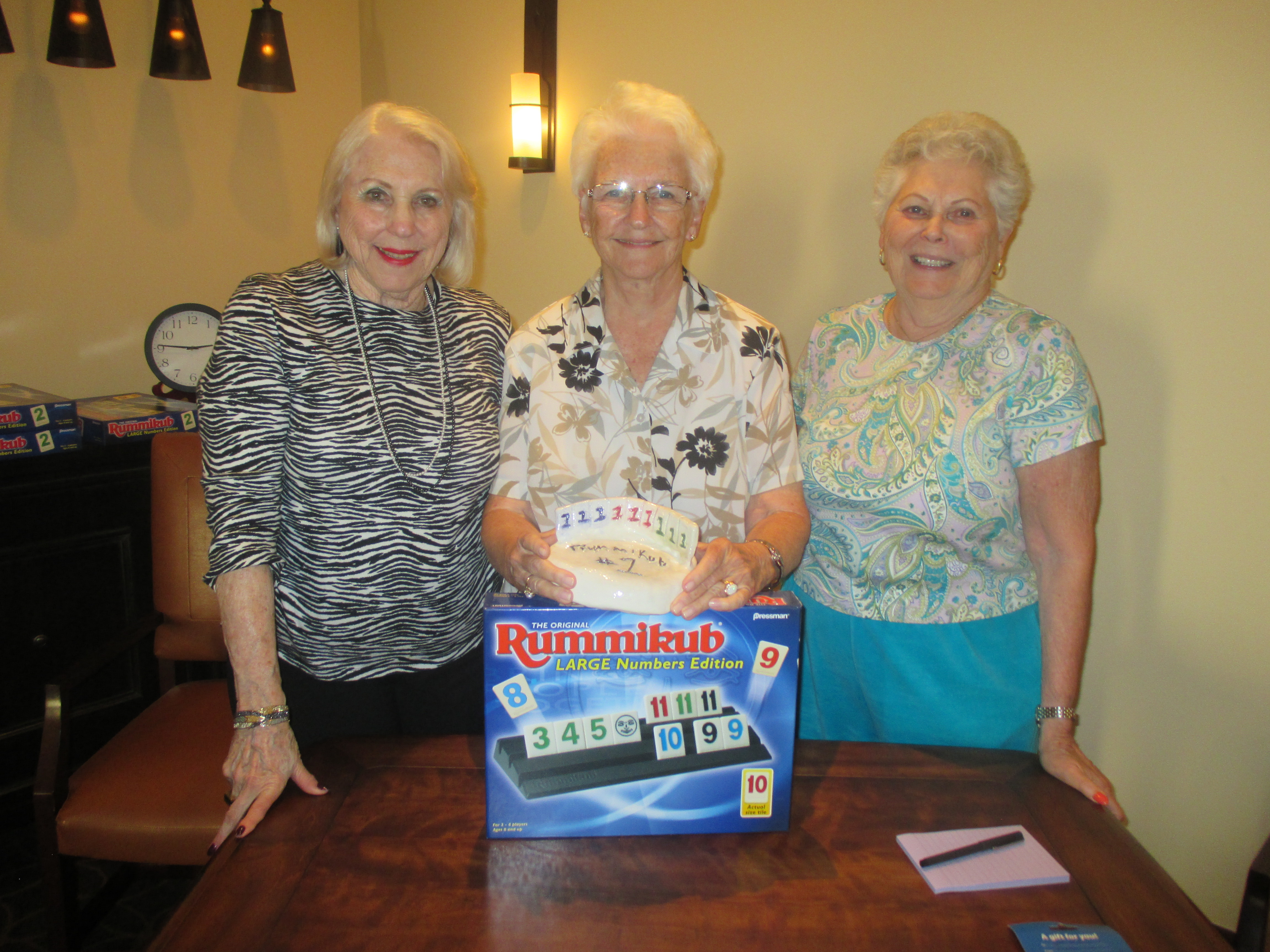 SRG Sister Communities Compete in Rummikub Tournament