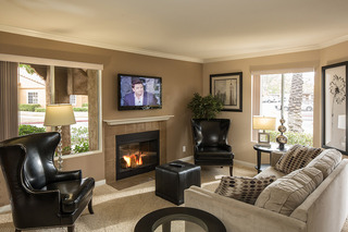 Living room at Laguna Niguel apartments