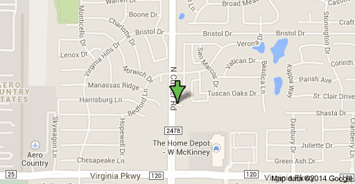 Map to our self storage units in McKinney