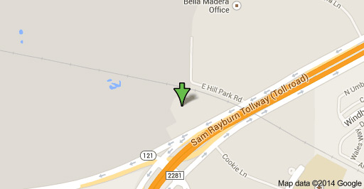 Map to our self storage units in Lewisville