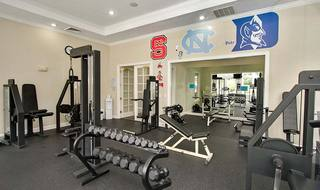 Fitness center inside Raleigh apartments