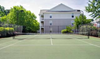 Tennis courts at our Raleigh apartments