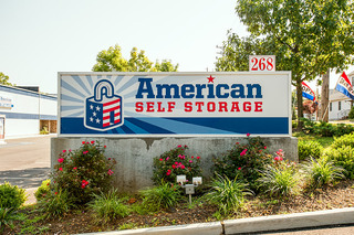 Main sign for Cliffwood self storage