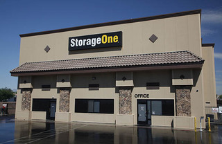 Self storage in north las vegas office entrance
