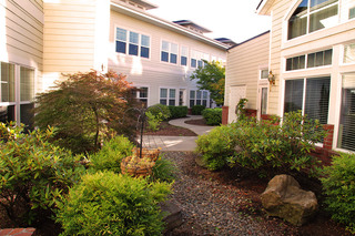 Outdoor area at Vancouver Senior Living