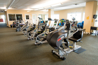 Fitness center exercise room at Vancouver Senior Living