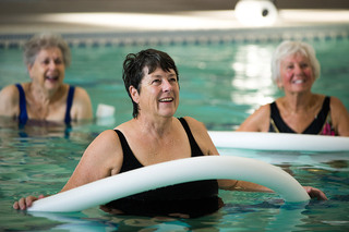 Vancouver Senior Living aquatic fitness class
