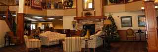 Christmas time main lobby at helena senior living