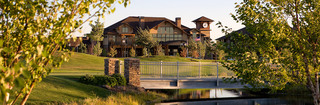 Senior living in meridian idaho bridge and water feature
