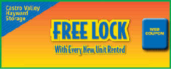 Free lock at self storage unit facility