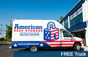 We offer free truck rental for our new self storage clients