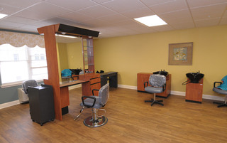 Luxury hair saloon in Newtown senior living