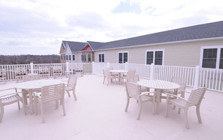 Newtown senior living has open patios