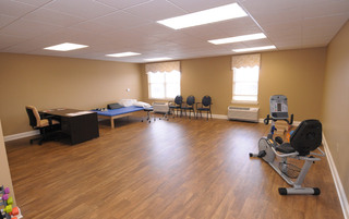 Luxury physical therapy room in Newtown senior living