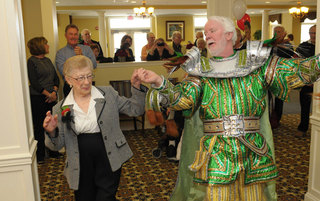 Senior living in Newtown residents having a good time