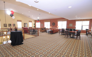 Senior living open common room in Newtown