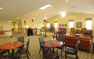 Spacious common room in Newtown senior living