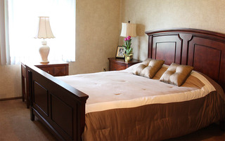 Sewell senior living has bright elegant bedrooms