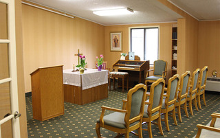 Senior living in Sewell has a elegant spirtual room