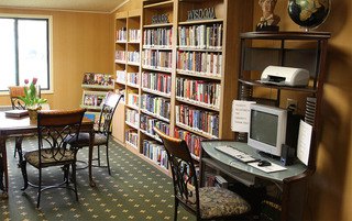Senior living in Sewell have a quite library