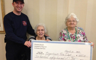 Boyertown senior living is getting a donation from the local fire department