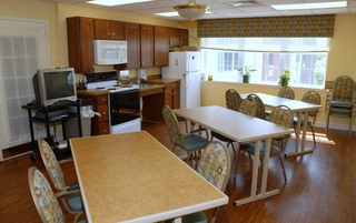 Modern kitchen at the senior living in Boyertown