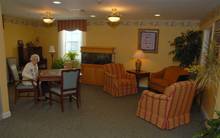 Modern living room in Boyertown senior living
