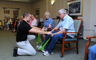 Residents enjoy exercise in Boyertown senior living