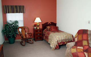 Elegant bedrooms at the senior living in Lynchburg