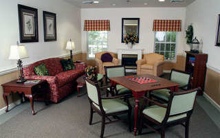 Modern game room in Lynchburg senior living