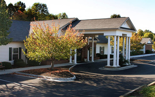 Welcoming front entrance at the senior living in Lynchburg