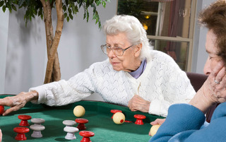 Residents enjoying games at the senior living in Reading