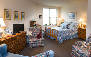 Spacious bedroom in Reading senior living