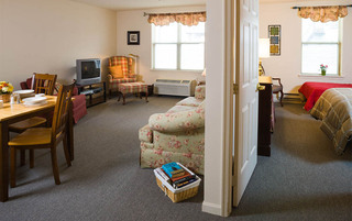 Open living room at the senior in Reading