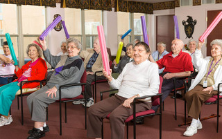 Exercise class at the senior living in Reading