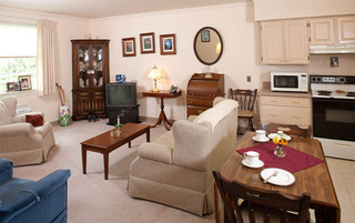Open living rooms at the senior living in York
