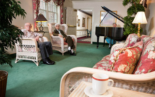 Residents enjoying music at the senior living in York