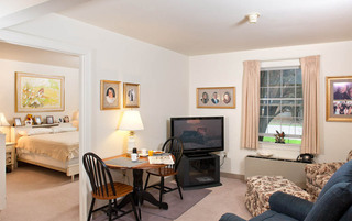 Modern living rooms in York senior living