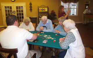 Playing cards in Palmyra senior living