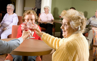 Happy hour at the senior living in Palmyra