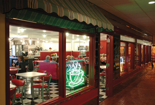 50s style cafe at Arbour Square of Harleysville