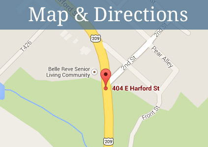 Get directions to Belle Reve Senior Living in Milford, Pennsylvania.