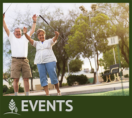Events on the community social calendar at Westmont Town Court.